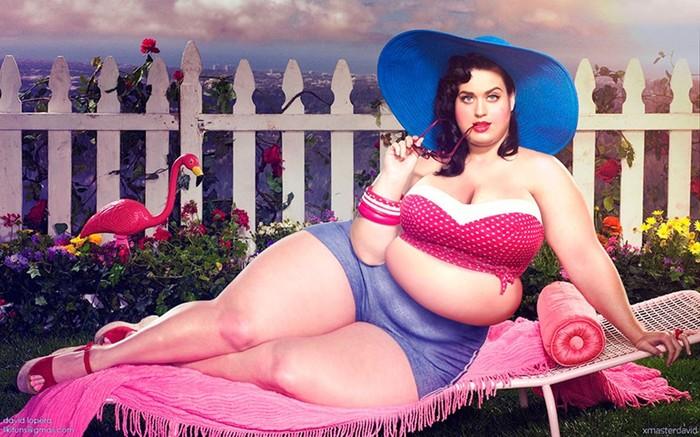 Эксперимент в фотошопе: толстые знаменитости от Давида Лопера