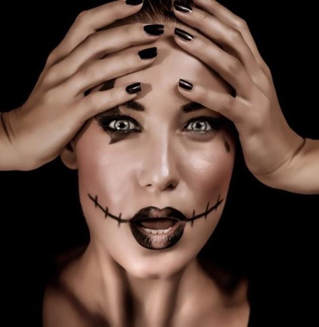 Хэллоуин: страшный макияж для девушек и забавные поделки для детей