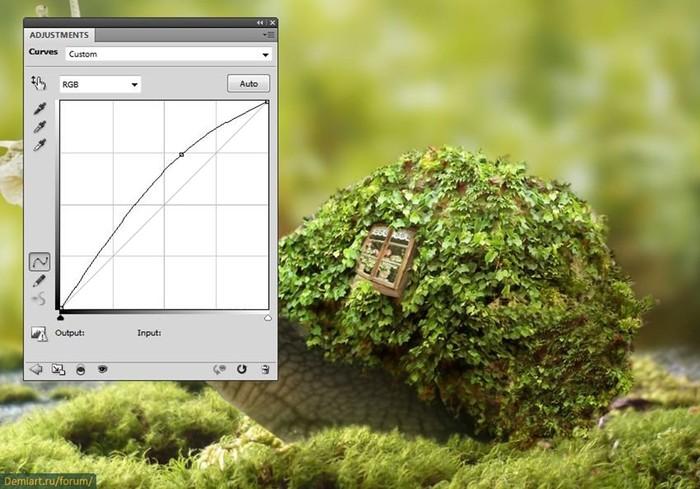 Создаем фантастический коллаж с улиткой в Adobe Photoshop