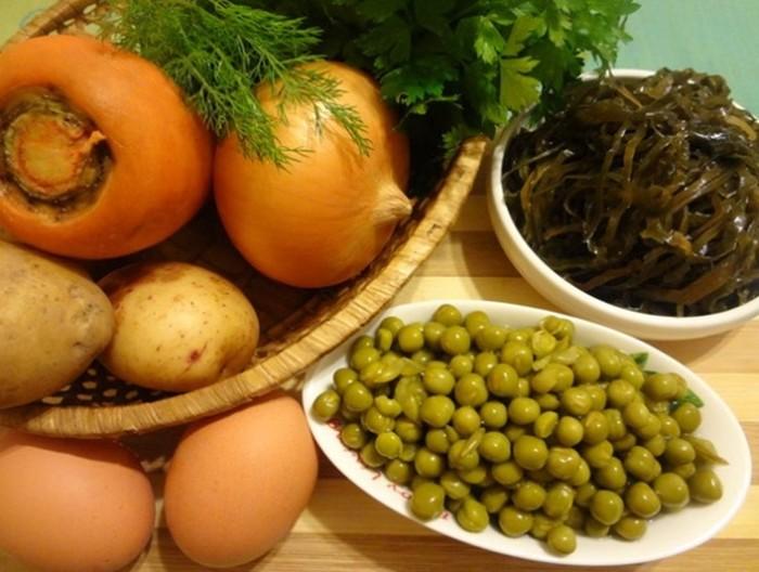 Суп из морской капусты (пошаговый рецепт)