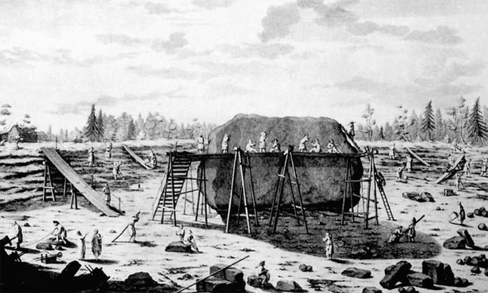 Гром камень: история валуна, ставшего постаментом для «Медного всадника»