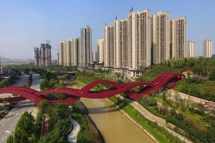 Мост «Узел Удачи» в городе Чанше