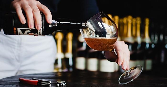 Пьем пиво с погружением
