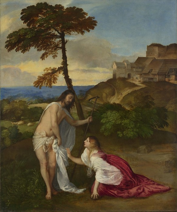 Марія Магдалина з воскреслим Ісусом на картинах різних художників