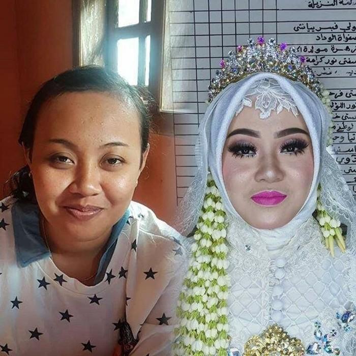 Чудеса свадебного макияжа: азиатские невесты до и после мейкапа