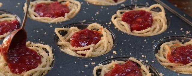 Маффины из спагетти: фантастически красивое блюдо из спагетти