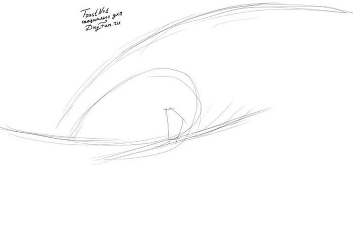 Как поэтапно нарисовать волны карандашом