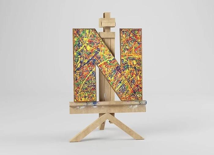 Артфавит: красивый шрифт из работ известных художников