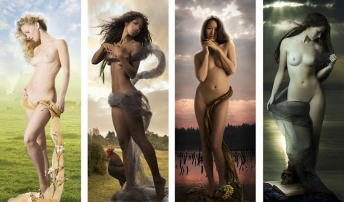 Чувственные образы обнаженных девушек в серии художественных фотографий