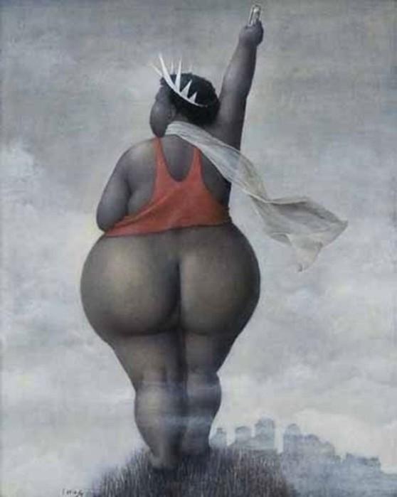 Художник Жанна Лорьоз: очаровательные толстушки с аппетитными формами