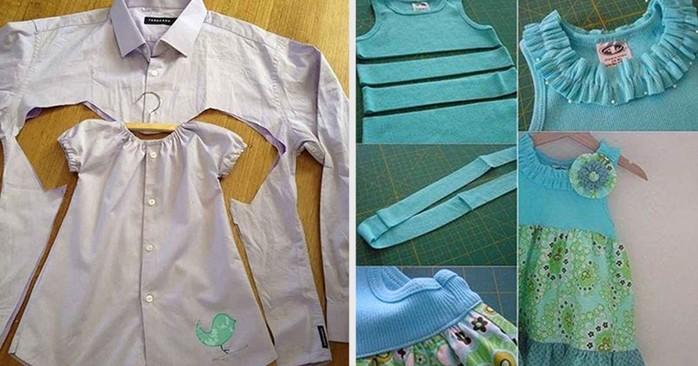 Интересные идеи переделки мужской рубашки