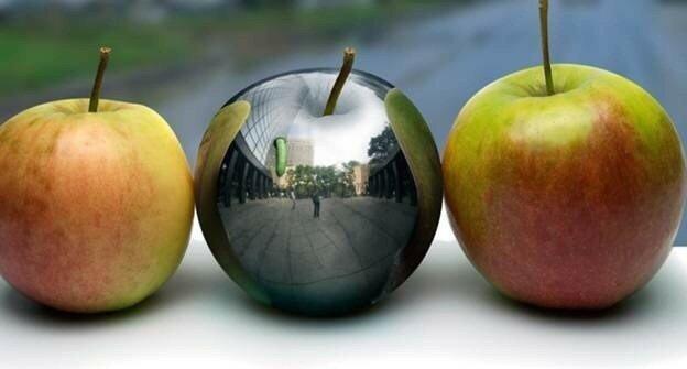 Как сделать Металлическое яблоко в уроке Photoshop