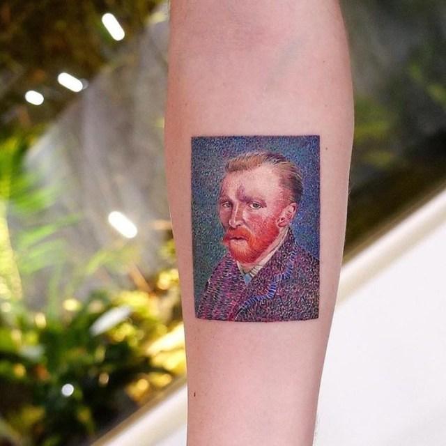 Шедевры мирового искусства на татуировках турецкого мастера