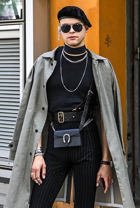 Гости Недели мужской моды в Милане: мужчины вплатьях, женщины втрусах
