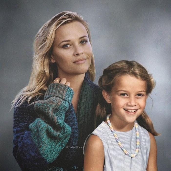 Селфи знаменитостей со своей молодой «версией» в фотошоп