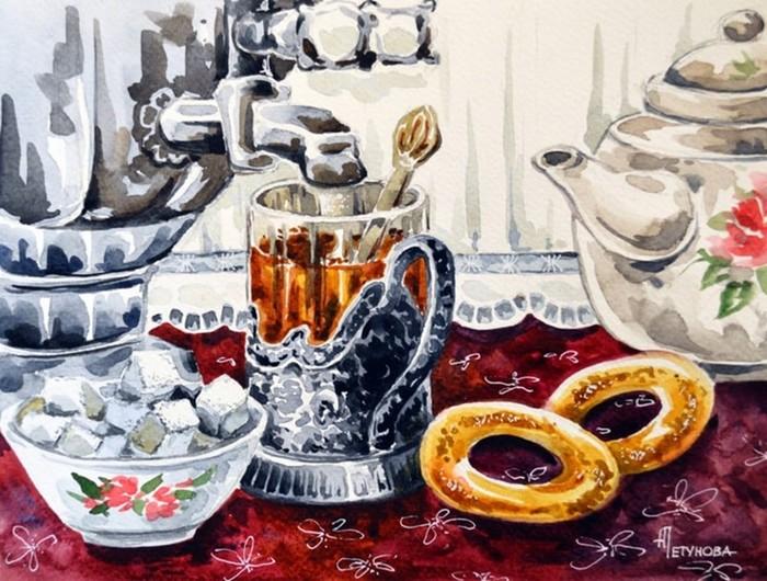 Осеннее настроение в иллюстрациях Анны Петуновой
