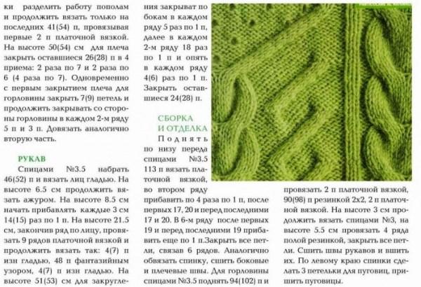 Нежная зелень.Пуловер.. Обсуждение на LiveInternet ...