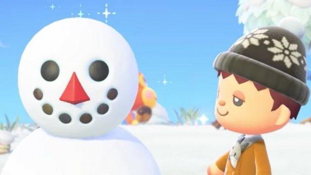 animal crossing, creepy, snowman