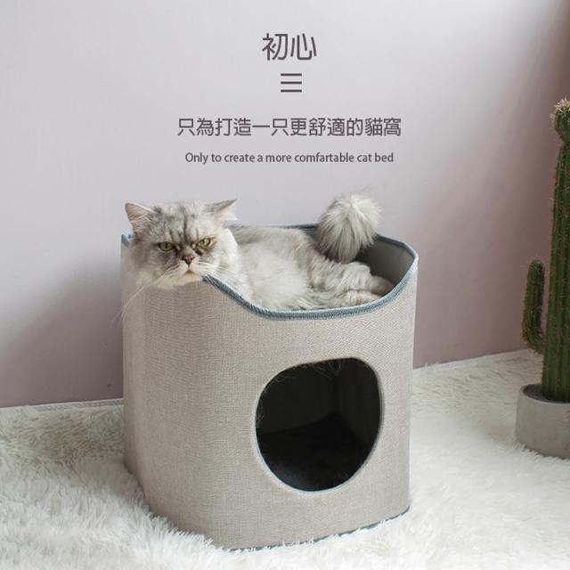 【Golden Cat 黃金貓】D型單層貓窩 狗窩 貓玩具 貓抓板(單層貓窩設計)