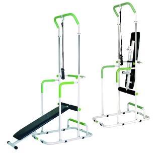 【Sport-gym】單槓 雙槓 仰臥板 拉力繩  多用途多用機-