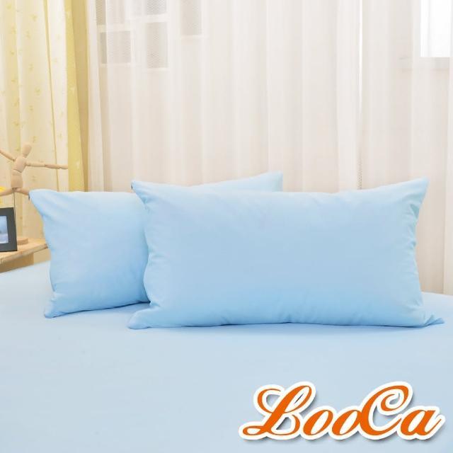 【LooCa】物理防蹣防水保潔枕套MIT(2入-共3色)