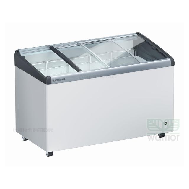 【LIEBHERR 利勃】德國利勃LIEBHERR 4尺2 弧型玻璃推拉冷凍櫃 EFI-3453(附LED燈)
