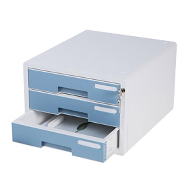 【SYSMAX】三層簡約A4資料櫃 /薄荷藍(A4資料櫃/收納櫃/效率櫃/三層/ 四層櫃/桌上文件)