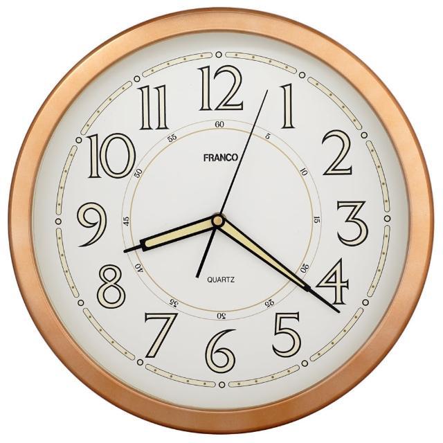 【JUSTIME 鐘情坊】多色款式14吋客廳掛鐘 夜光鐘面設計(台製 免運 多色款 時鐘 客廳擺飾 壁鐘 掛鐘)