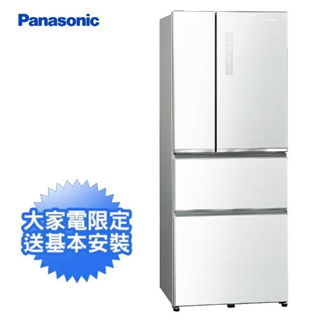 【Panasonic 國際牌】500公升一級能效玻璃四門變頻冰箱-翡翠白(NR-D501XGS-W)