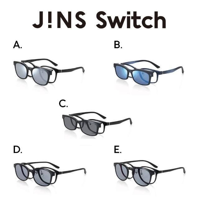 【JINS】Switch 磁吸式兩用眼鏡(2184 Flip up/2185 Switch/2186 Switch)