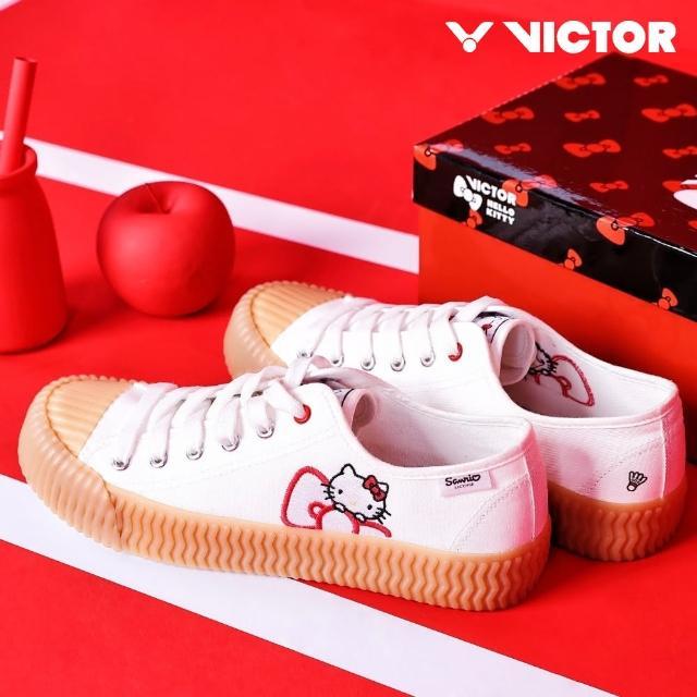 【VICTOR 勝利體育】帆布鞋 餅乾鞋 VICTOR x HELLO KITTY 聯名帆布鞋(KTS)
