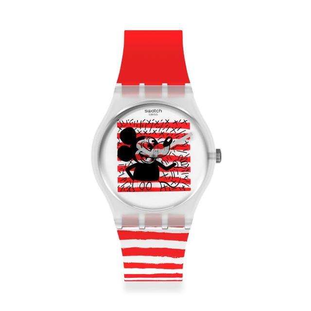 【SWATCH】Gent 原創系列手錶 MOUSE MARINIERE(34mm)