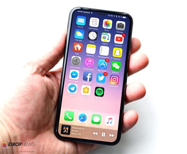 苹果正测试的iPhone 8就长这样:外形完美!