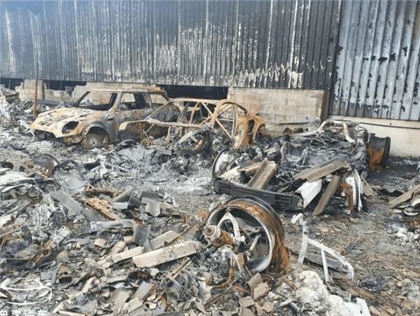 More than 80 world-class luxury cars burned to ashes in the garage!Lost hundreds of millions