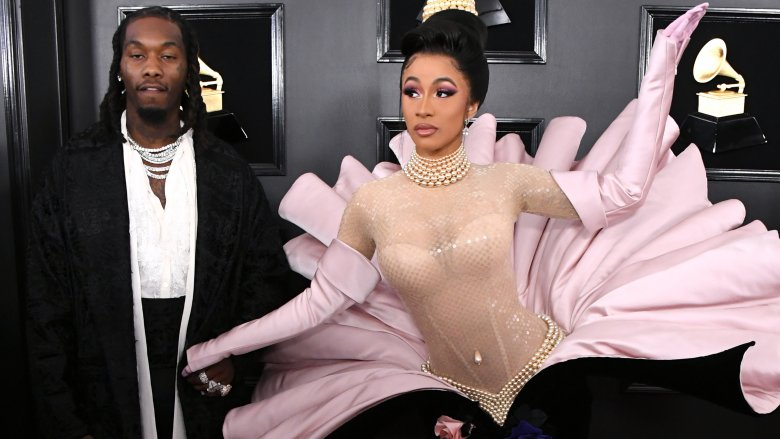 Cardi B and Offset at the 2019 Grammys