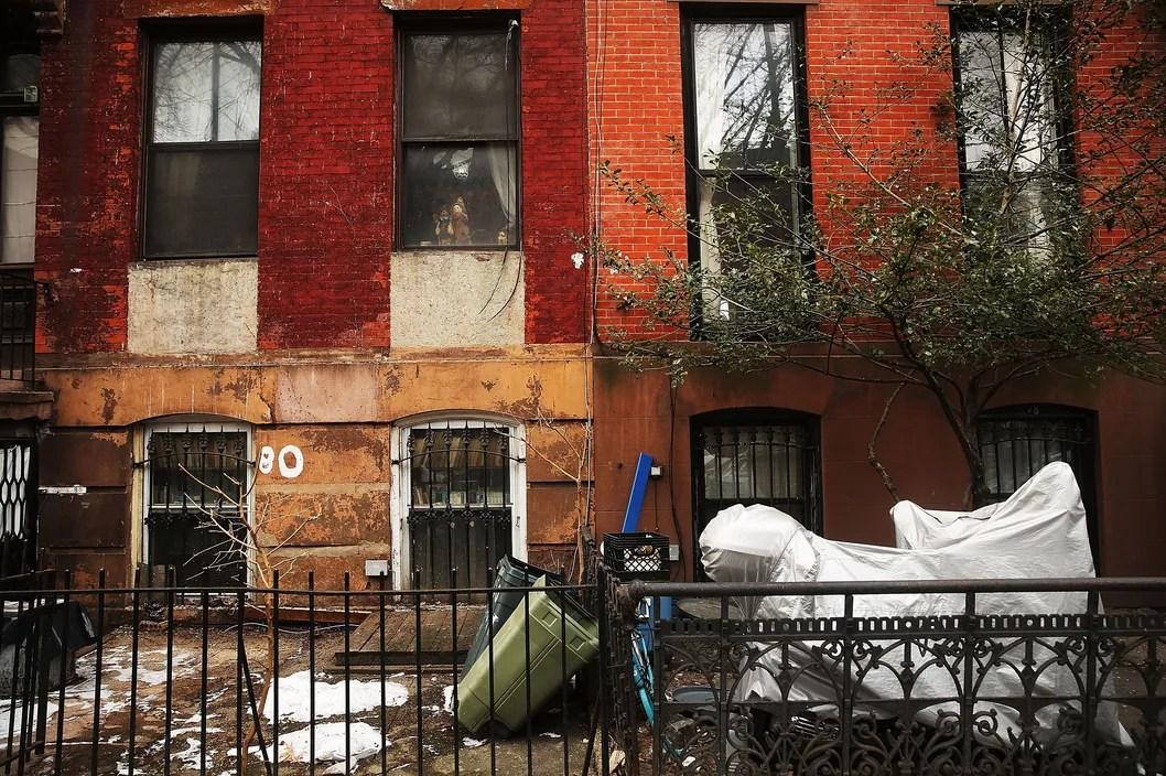 Two homes sit side-by-side in Fort Greene, Brooklyn