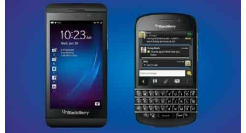 BlackBerry Z10 e Q10