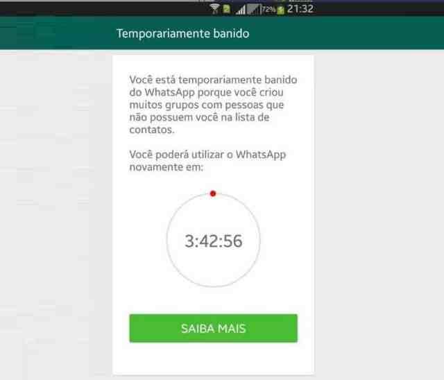 Veja cinco motivos pelos quais você pode ser banido do WhatsApp