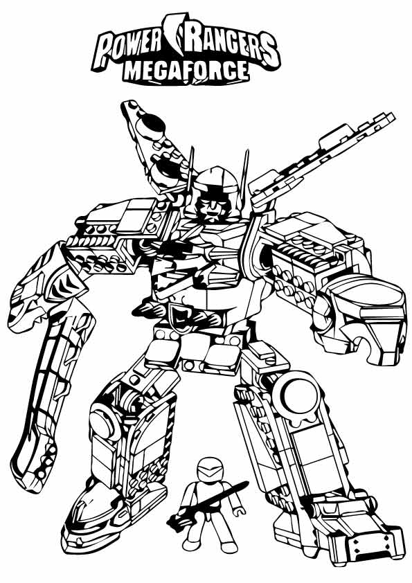 power rangers megaforce coloring pages # 56
