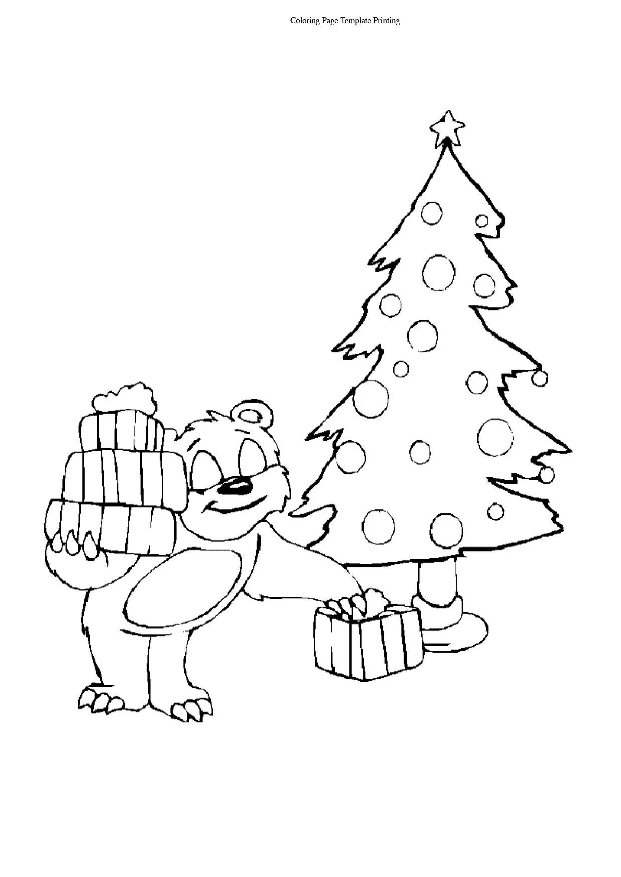Free Printable Christmas Trees Coloring Pages Christmas