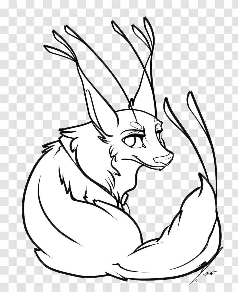 Domestic Rabbit Hare Red Fox Whiskers Clip Art Drawings Of Fantasy Animals Transparent Png