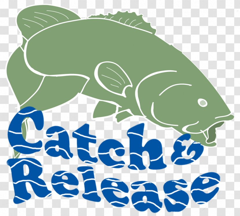 Catch And Release Bass Fishing Clip Art Logo Transparent Png