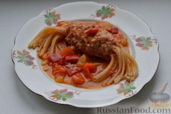 """Рецепт: Макароны с мясом (спагетти """"Дедушкины усы"""") на ..."""