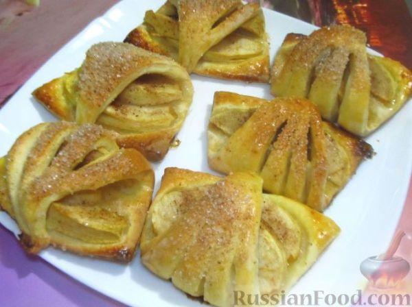 Рецепт: Творожное печенье с яблоками на RussianFood.com