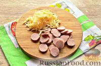 Рецепт: Бризоль с сосиской и сыром на RussianFood.com