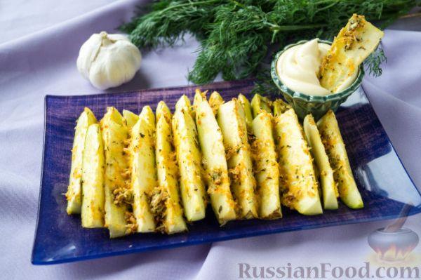 Рецепт: Кабачки, запеченные в духовке, с сыром и специями ...
