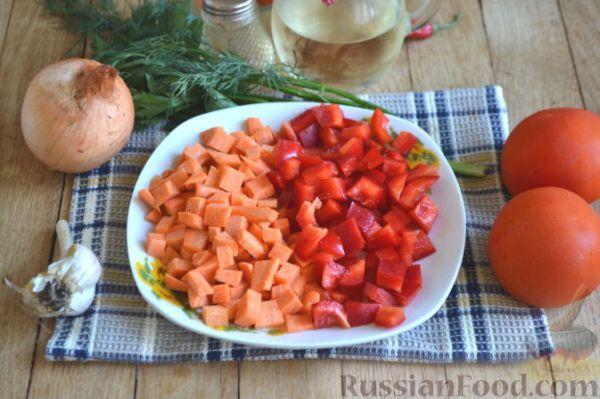 Рецепт: Макароны с мясом и овощами на RussianFood.com
