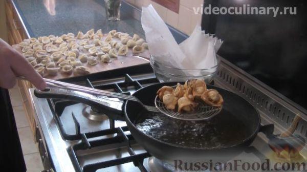 Рецепт: Узбекские жареные пельмени (ковурма чучвара) на ...