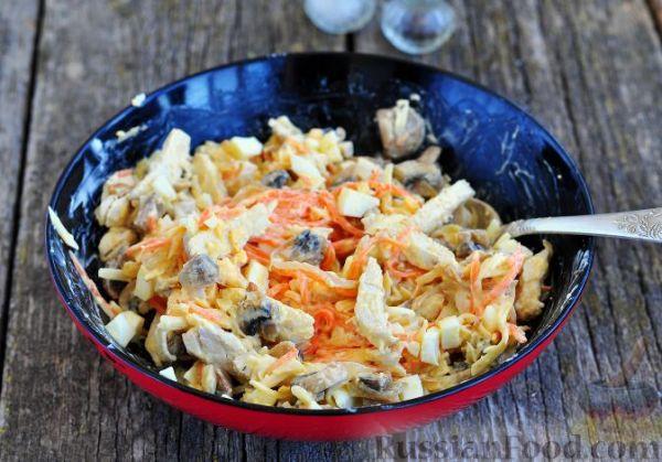 Рецепт: Салат с курицей и корейской морковкой на ...
