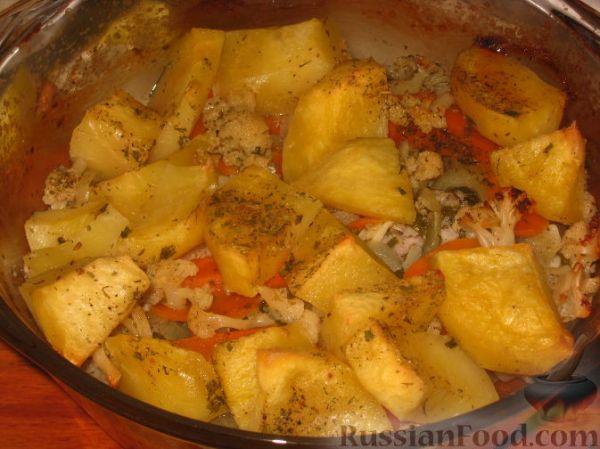 Рецепт Толстолобик запеченный с овощами на RussianFoodcom